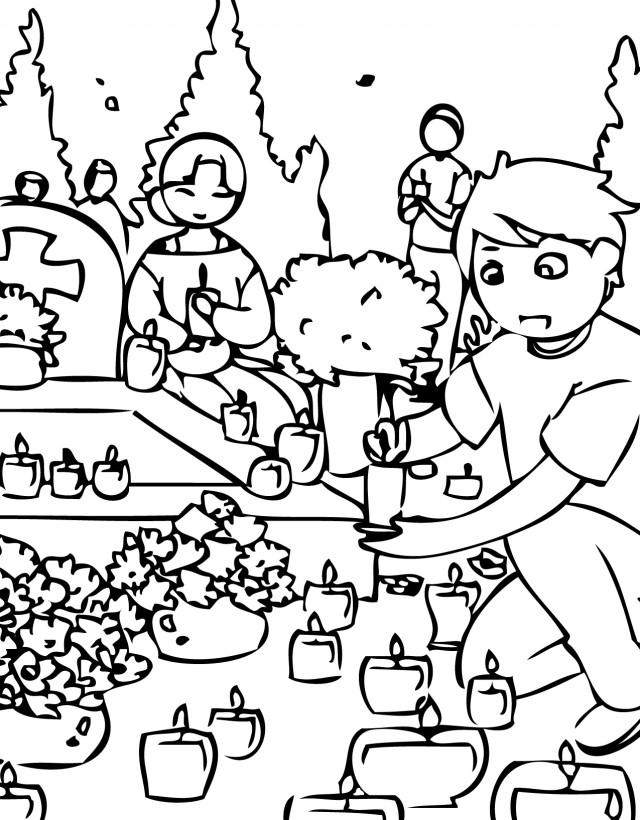 Printable Coloring Pages For All Saints Day : All Saints Day Coloring Page AZ Coloring Pages