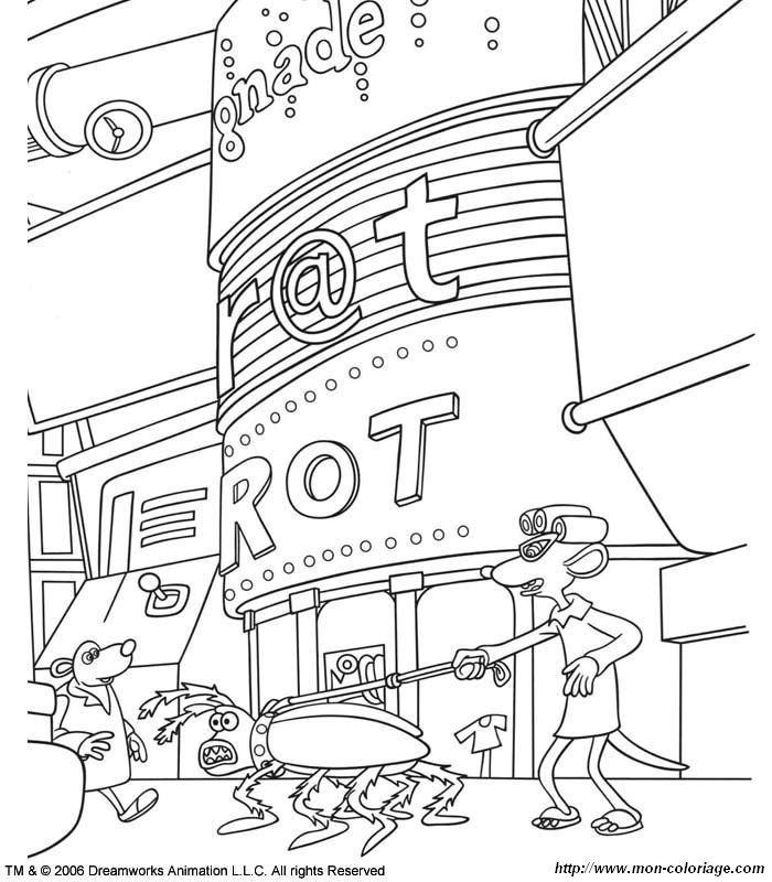 Flushed Away Coloring Pages Coloring