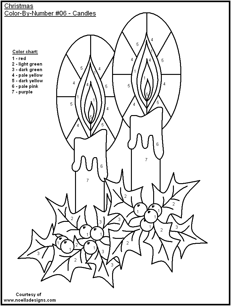color by numbers coloring pages - color by number christmas pages coloring home
