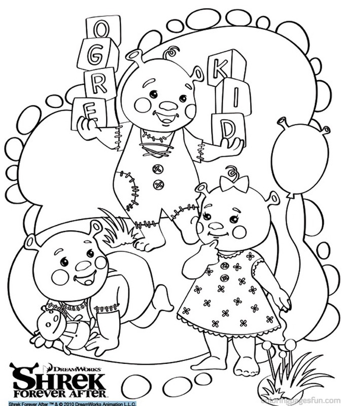 Shrek forever after coloring pages az coloring pages for Coloring pages shrek