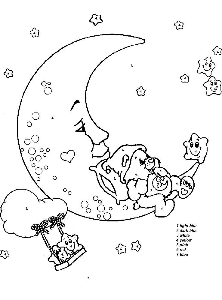 m for moon coloring pages - photo #49