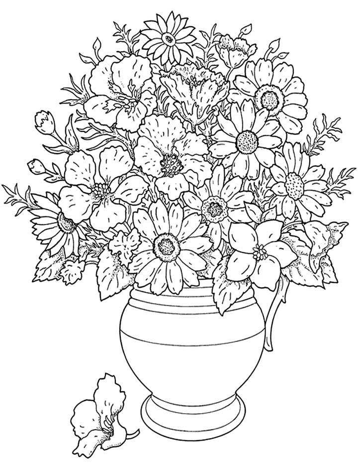 Coloring Pages Of Flowers For Teenagers Difficult - Coloring Home