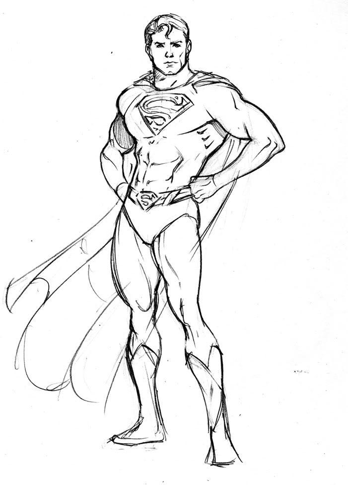 модель рисунок супермена карандашом позволяет