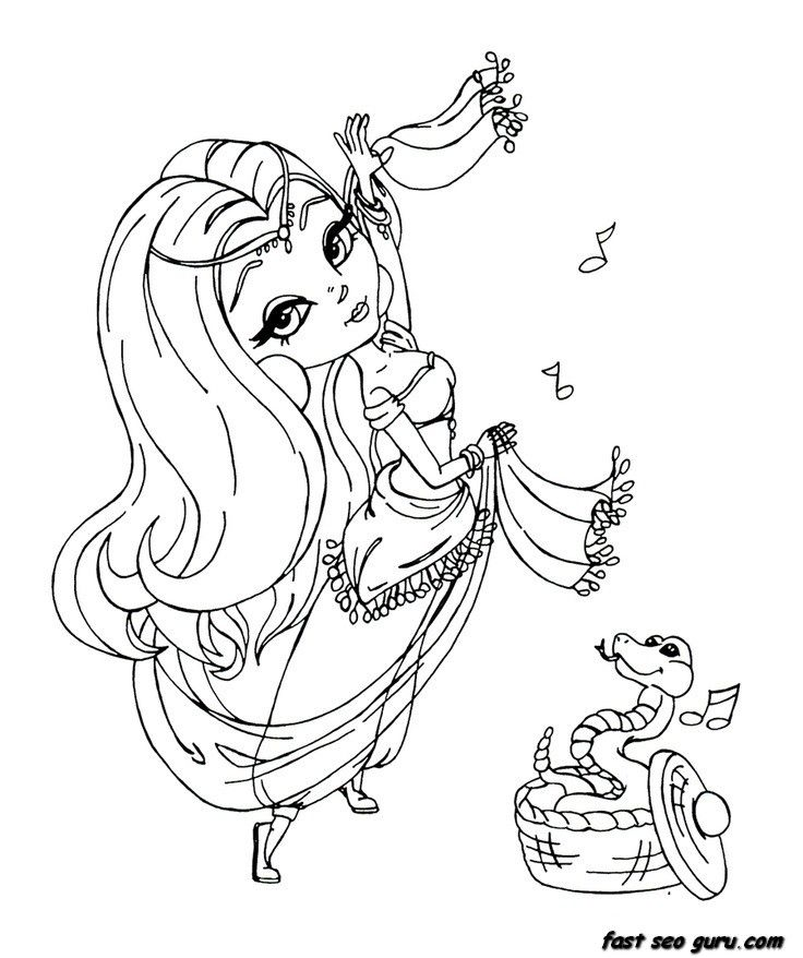 pretty lady coloring pages - photo#8