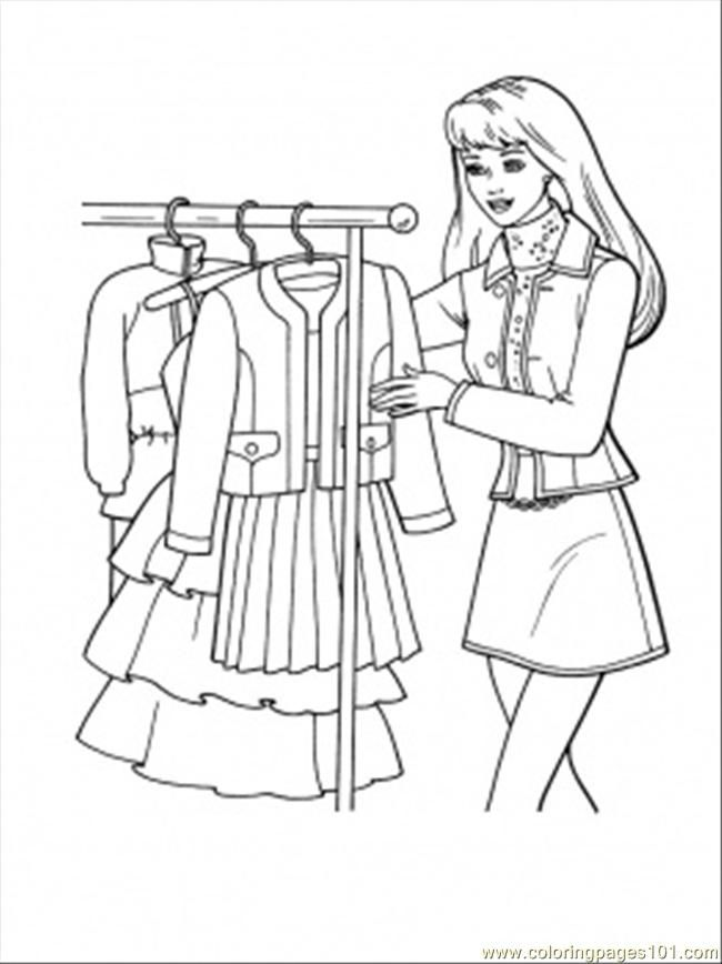 coloring pages shopping - photo#45