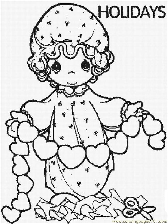 christmas precious moment coloring pages-#31
