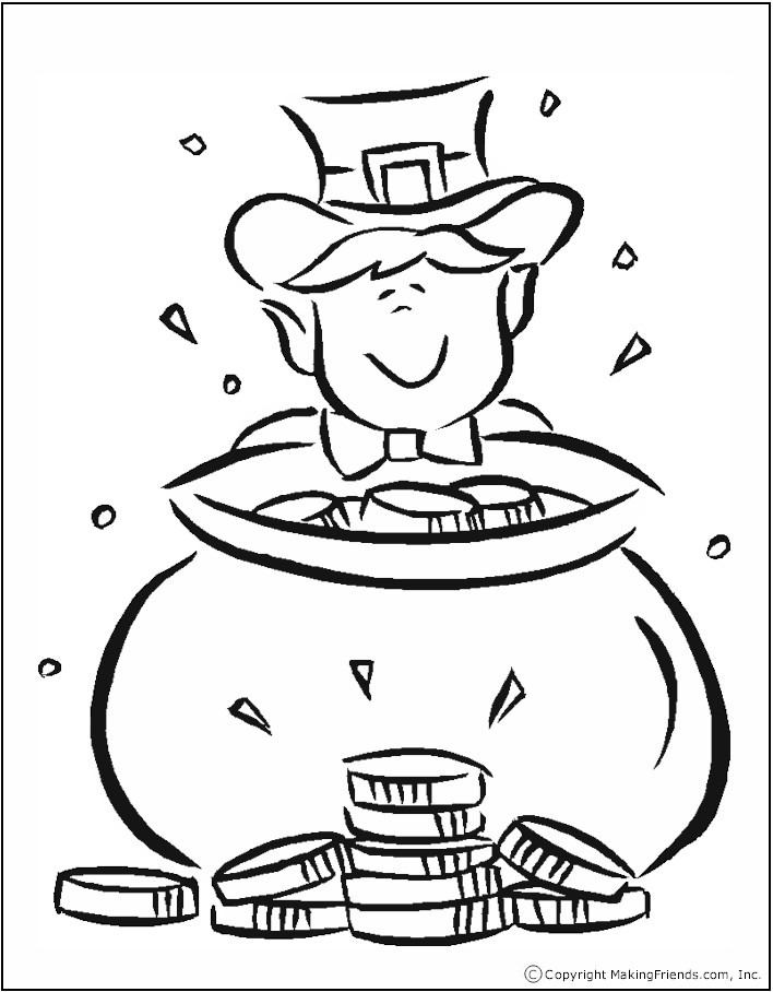 Rainbow And Pot Of Gold Coloring Page Az Coloring Pages Pot Of Gold Coloring Page