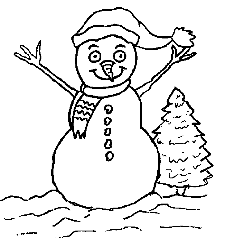 Funny Snowman Of Christmas Coloring Pages For Kids Coloring Home