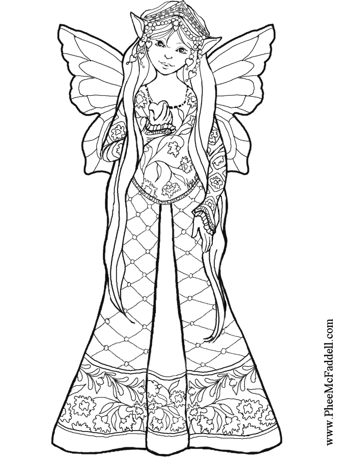 fairy coloring pages online - fairy coloring pages az coloring pages