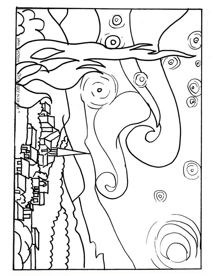 night time coloring pages - photo#17