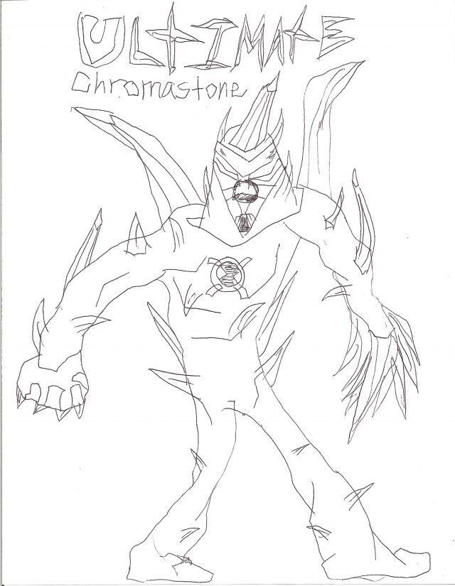 Ben 10 Alien Force Chromastone Coloring Pages Ben 10 Coloring ...