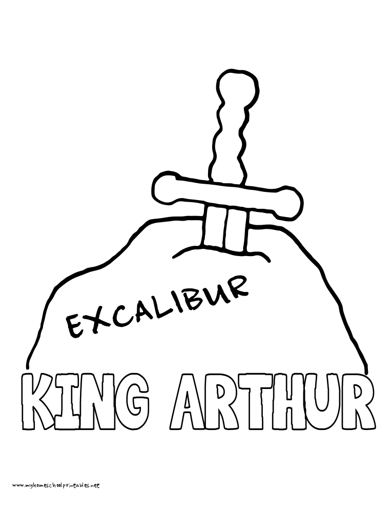 King Arthur Coloring Pages Coloring Home