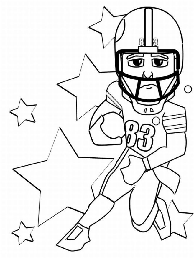 Football Player Coloring Page Images & Pictures - Becuo