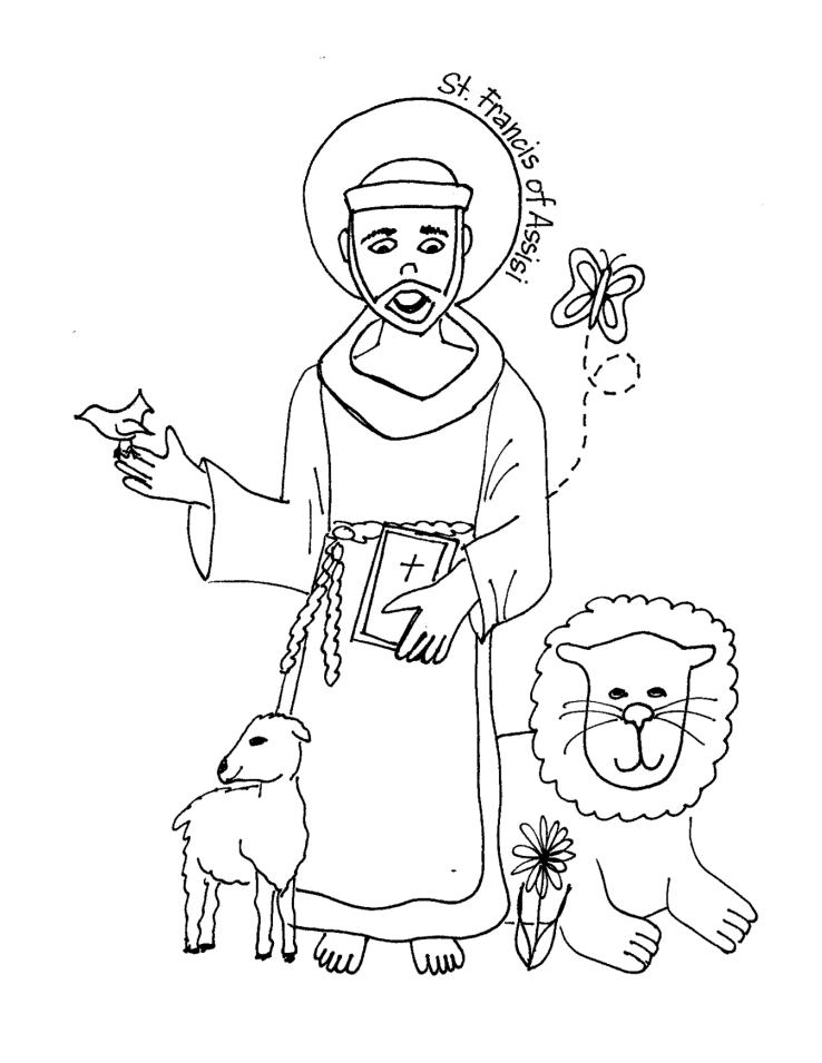 saints coloring pages printable catholic saints - Saints Coloring Pages