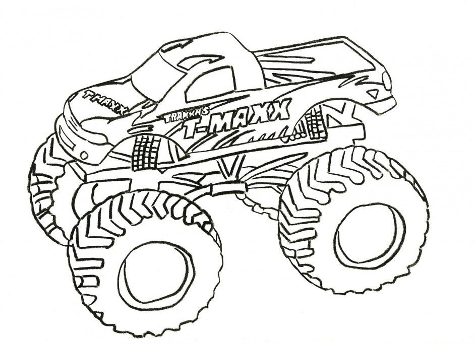 bigfoot monster truck coloring pages picture cool car 195995 car - Truck Coloring Book