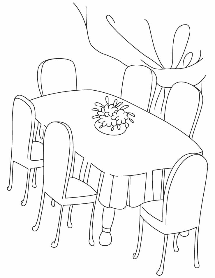 tables coloring pages - photo #38