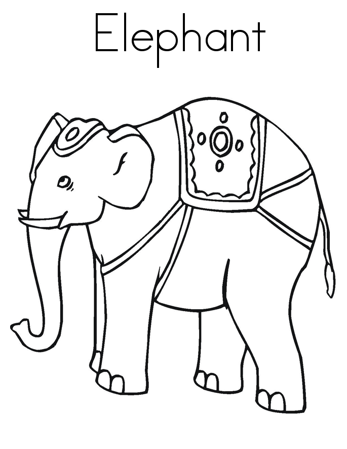 Elmer the elephant coloring page az coloring pages for Elephant coloring pages