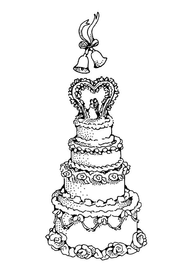 Wedding cake coloring pages coloring home for Wedding cake coloring page
