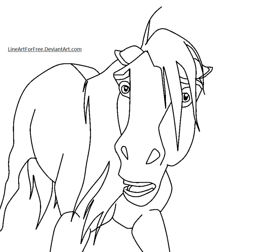 spirit the horse coloring pages - photo#20