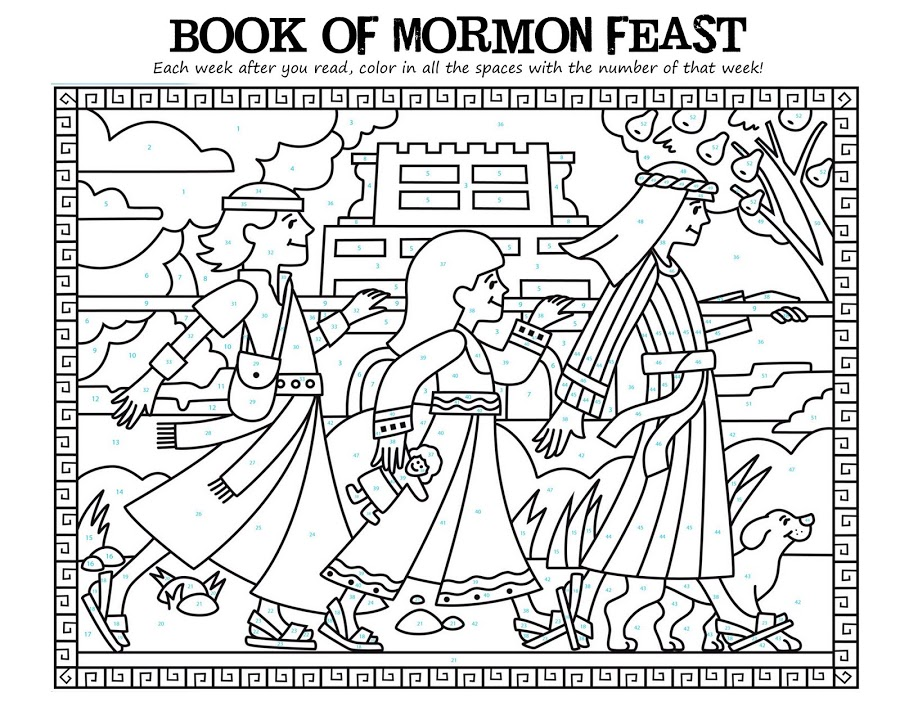 book of mormon coloring pages - photo#11