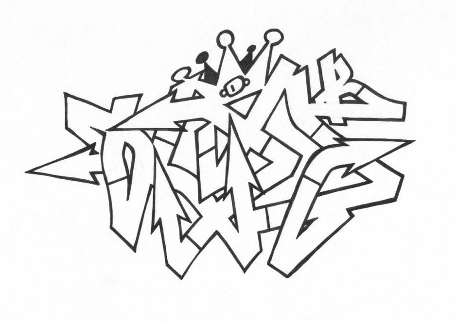 Coloring Pages Excellent Graffiti Coloring Pages Coloring Page