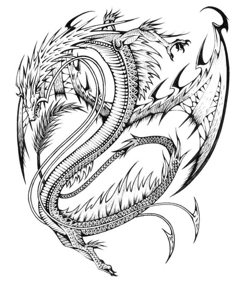 Real Dragon Coloring Pages | Free coloring pages for kids