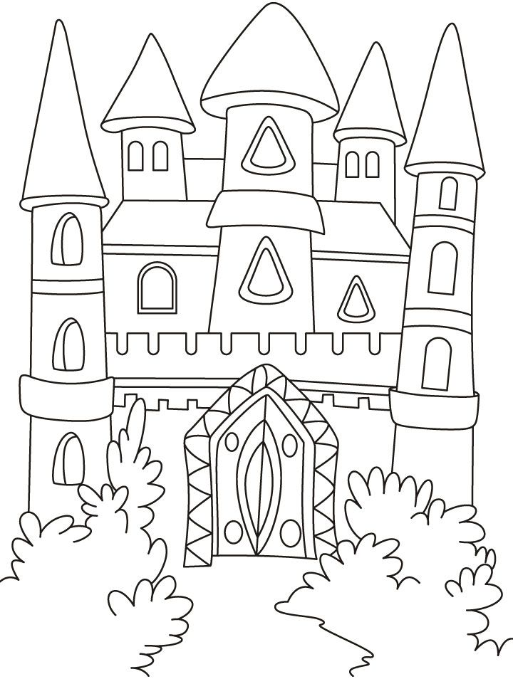 Printable Castle Coloring Pages Coloring Home