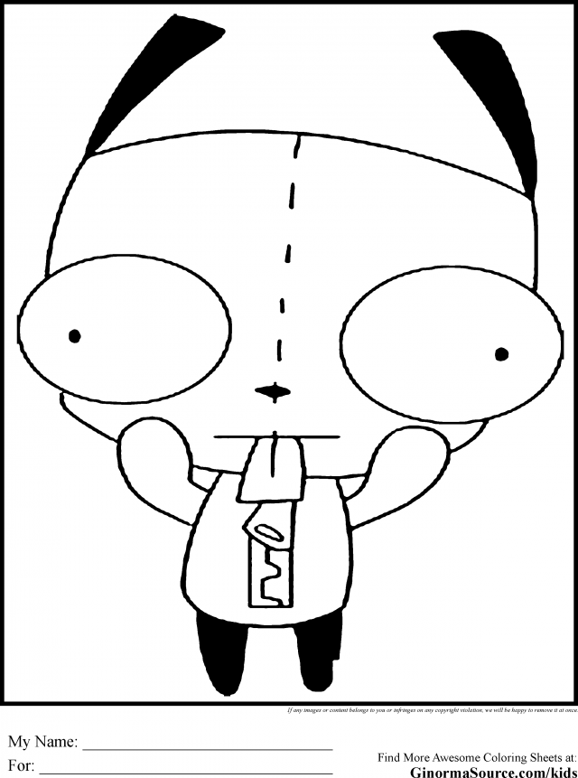 gir invader zim coloring pages - photo#10