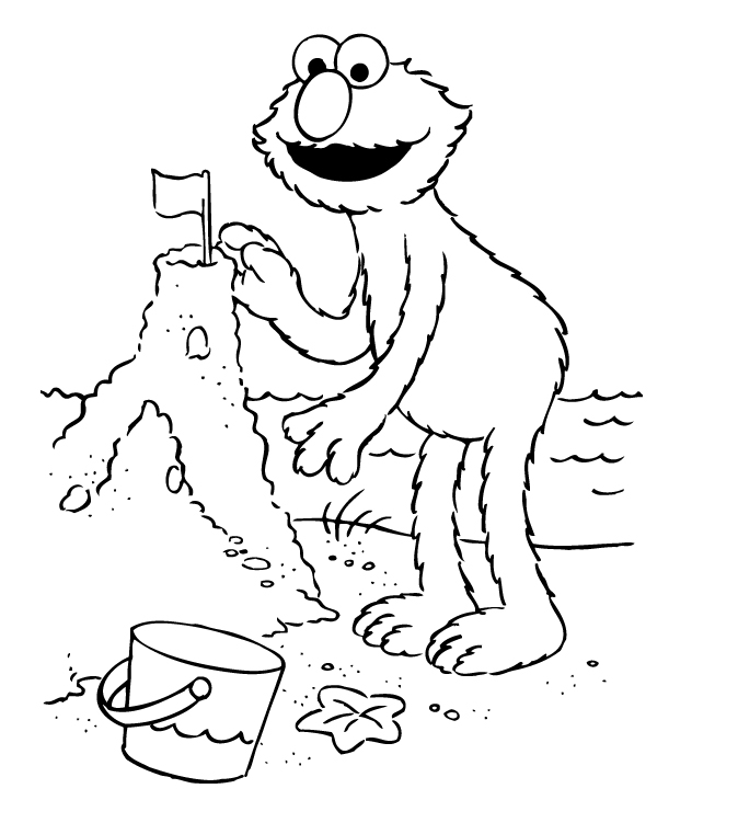letter a coloring pages elmo - photo#13