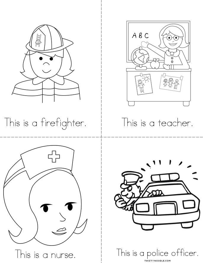 Community helpers coloring pages az coloring pages for Community helpers coloring page