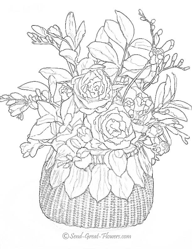 coloring pages - Free Printable Flower Coloring Pages For Adults