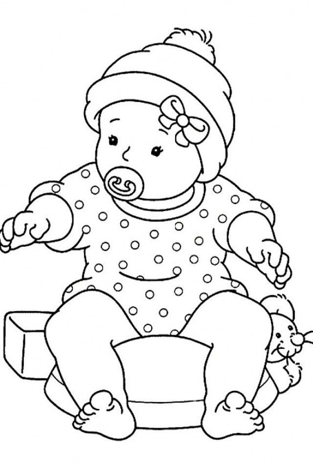 Baby Girl Coloring Pages To Print - Coloring Home