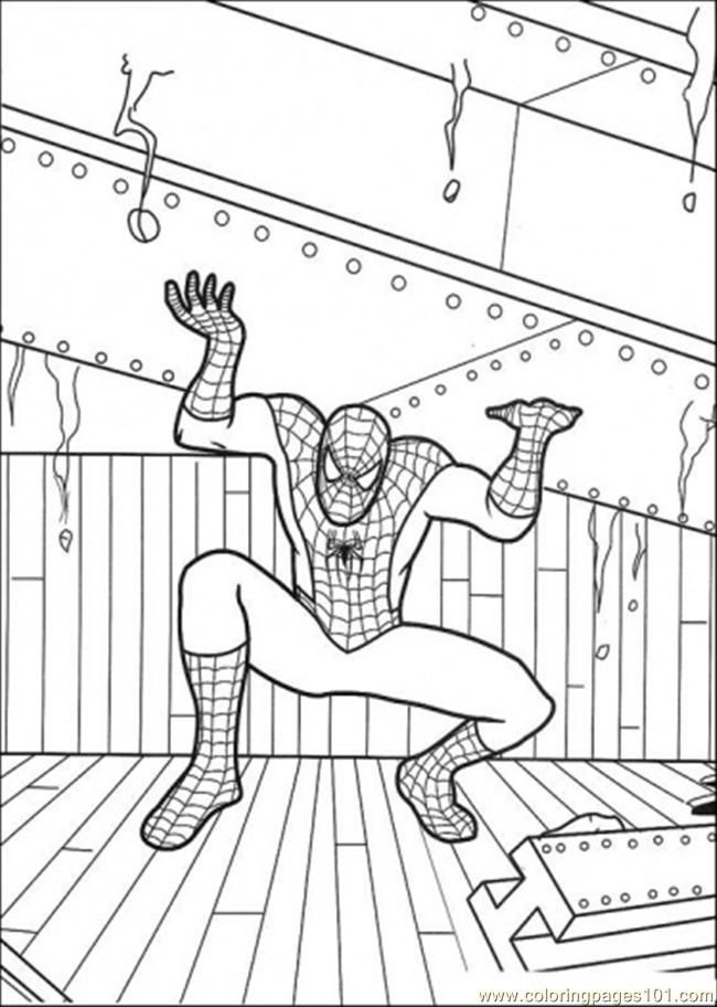 Iron Spider Man Colouring Pages Coloring Home