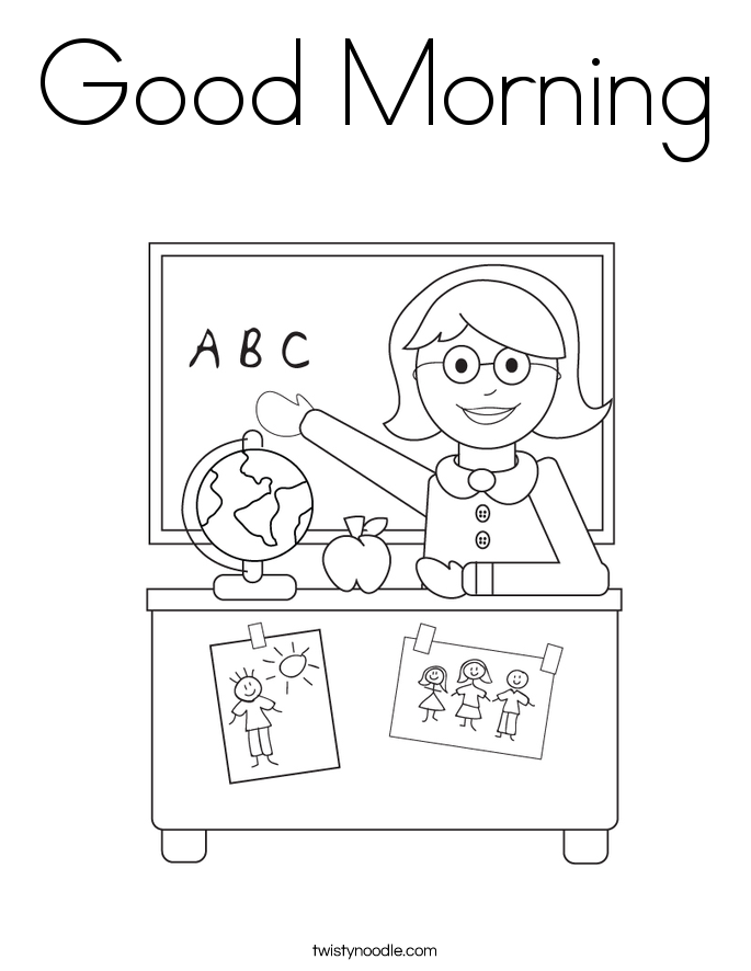 good night kids coloring pages - photo#18
