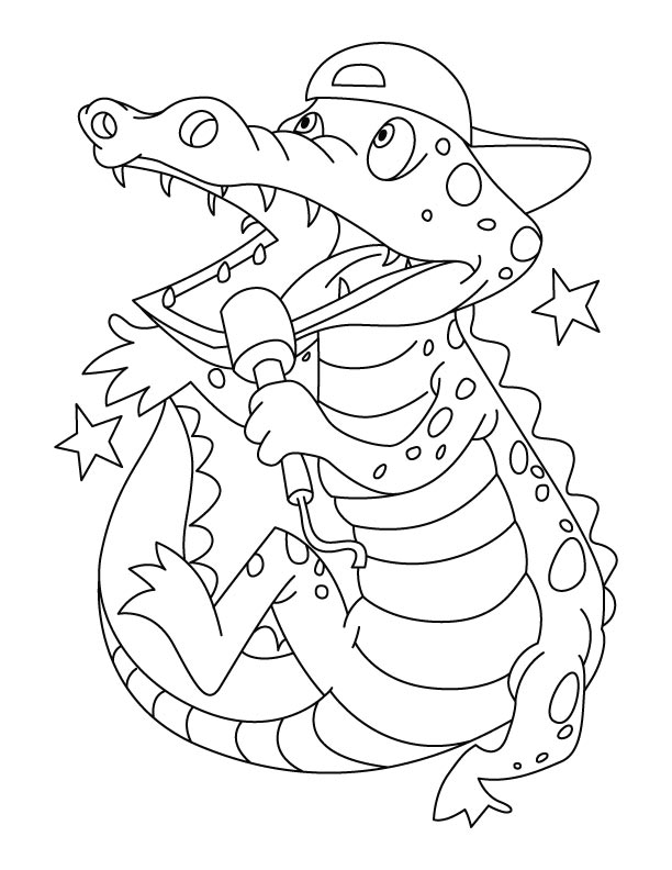 printable coloring pages crocodile - photo#21