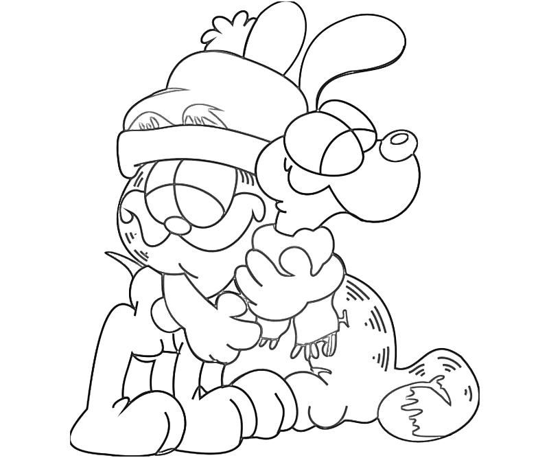 odie and garfield coloring pages - photo#5