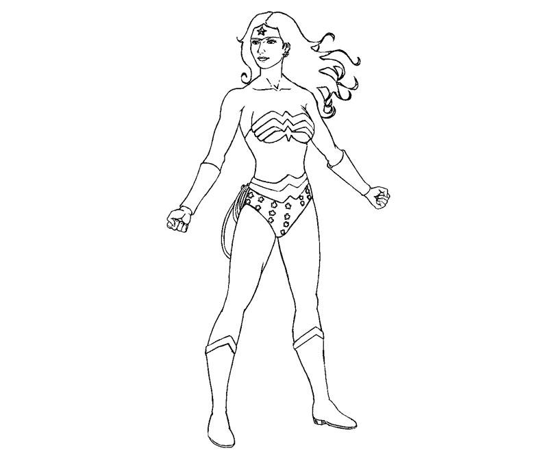 Wonder Woman Coloring Page - AZ Coloring Pages