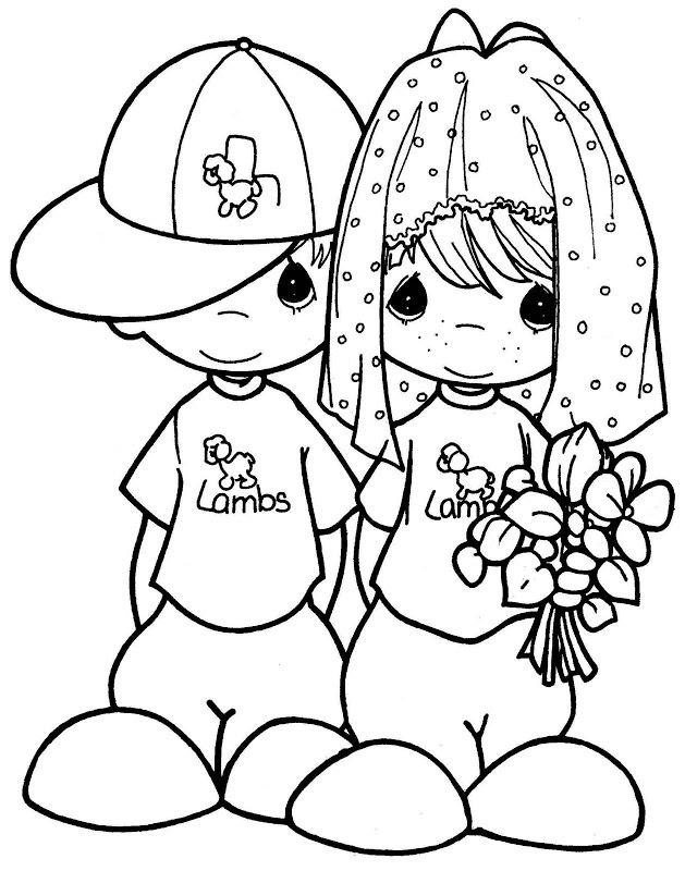 Precious moments coloring pages free az coloring pages for Precious moments wedding coloring pages