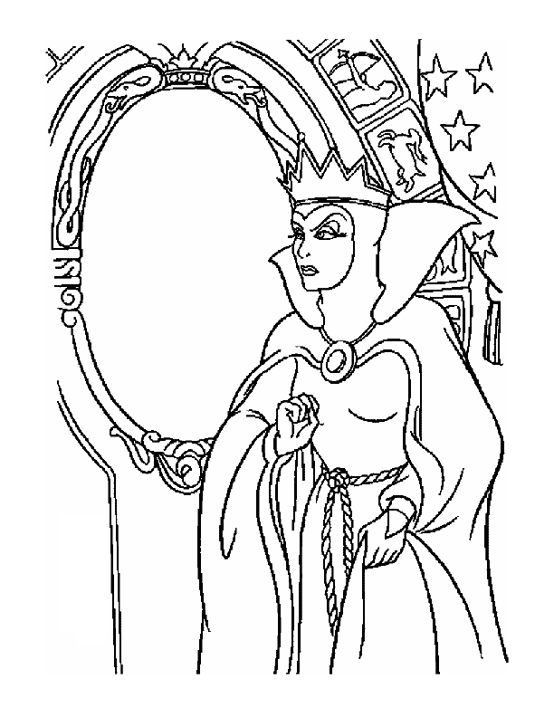 Coloring Pages Cartoon Snow White 154 Evil Queen Coloring Home