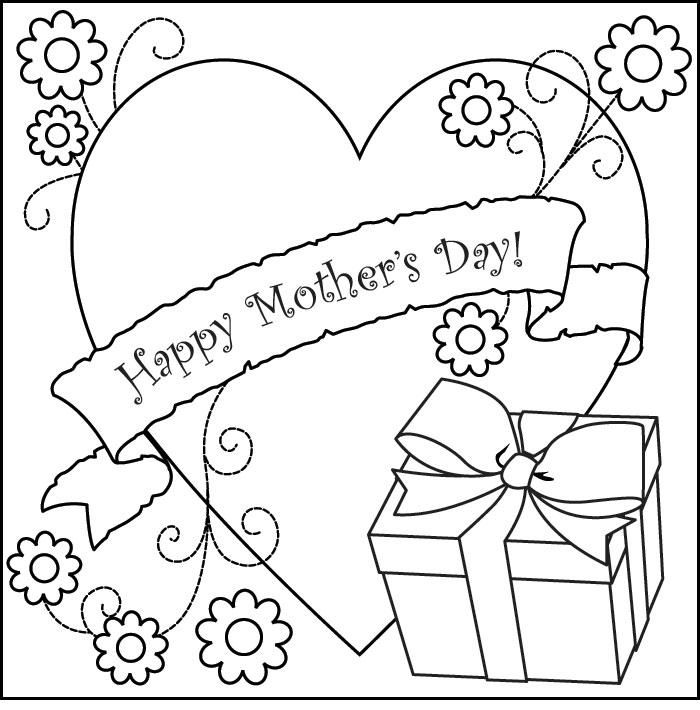 New Happy Mothers Day Cards Coloring Pages - Mother Day Coloring