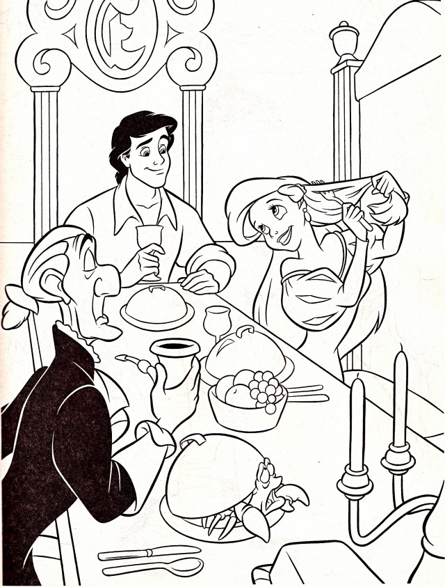 Walt Disney Coloring Pages Sir Grimsby Prince Eric Sebastian