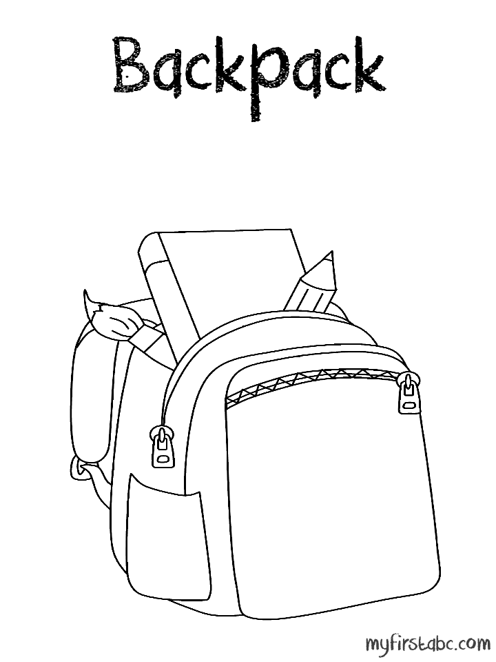 Backpack coloring sheet az coloring pages for Backpack coloring page