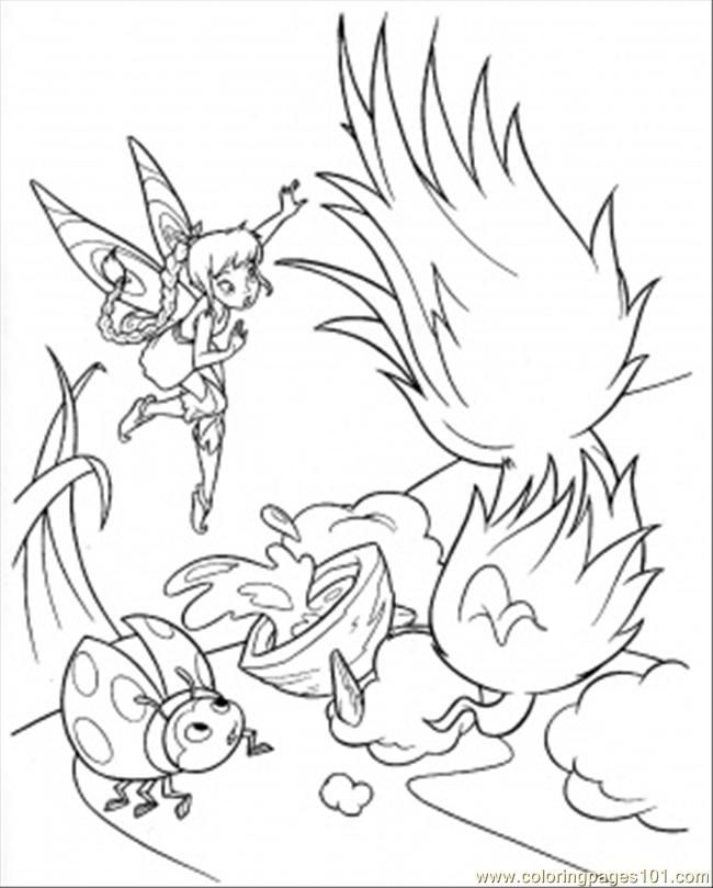 Coloring Pages Ladybird With Tinkerbell Cartoons Gt Disney