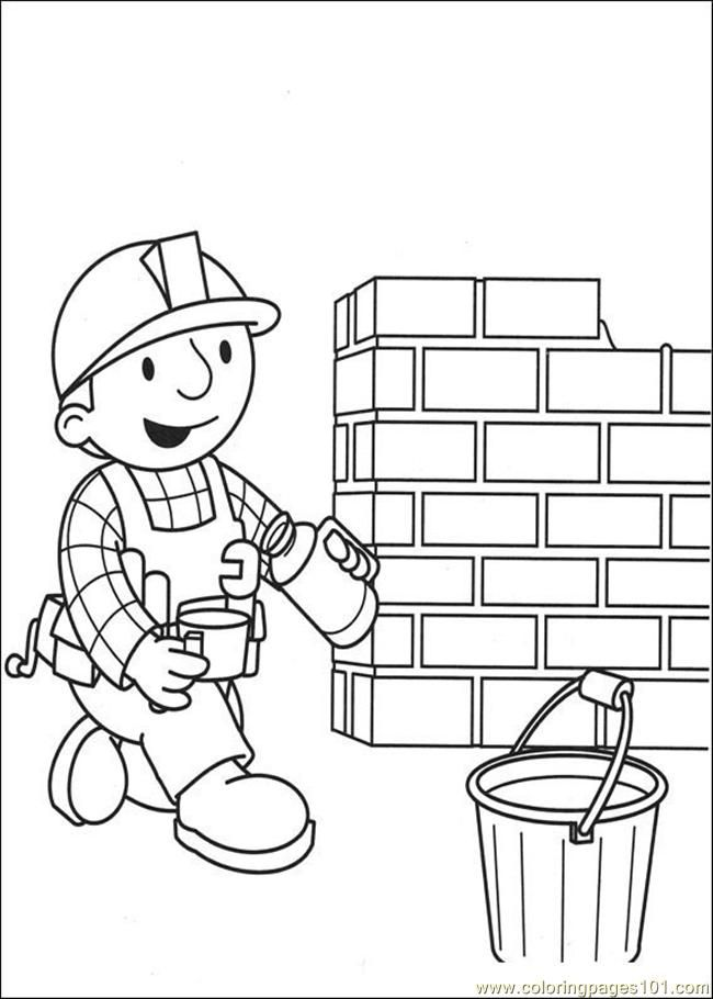 Coloring Pages He Builder Coloring Pages 0 (Cartoons > Bob the
