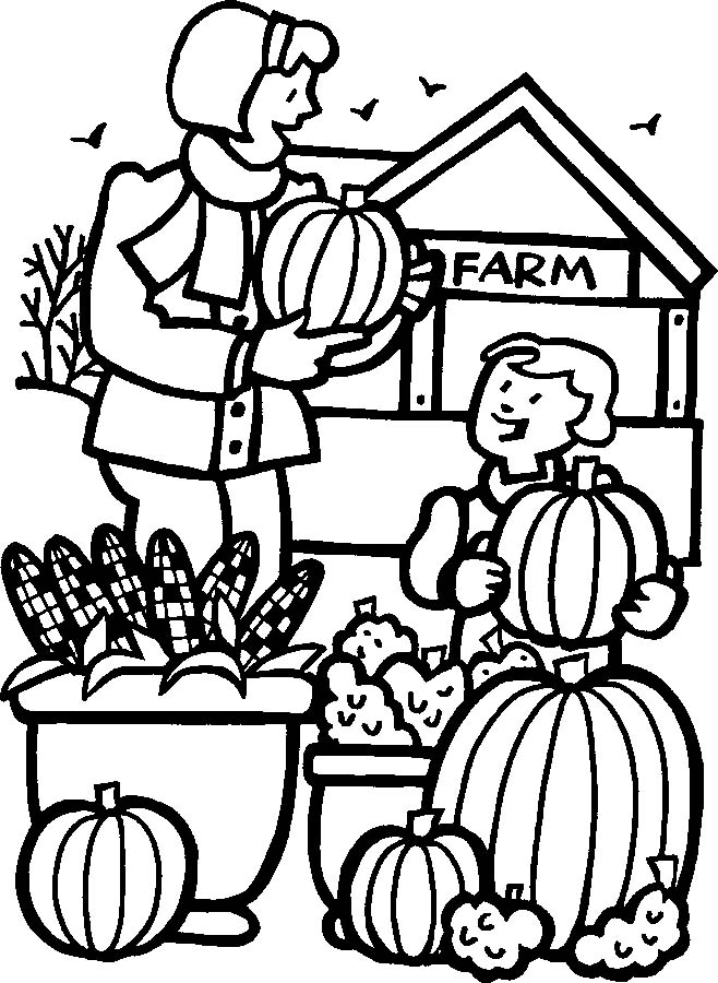 pumpkin patch coloring pages - photo#9