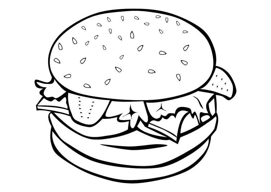 Sandwich and Bread Coloring Pages | Learn Colors for Kids with ... | 620x875