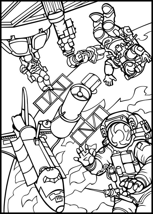Outer space coloring page. | Space