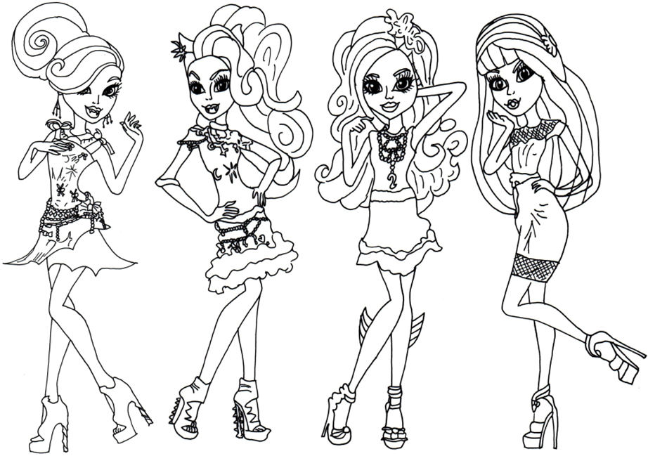 monster high coloring pages a4c - photo#2