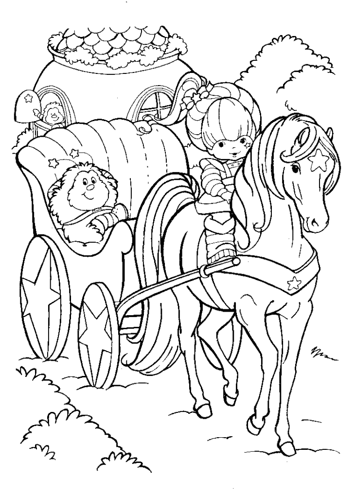 Rainbow Bright Coloring Pages Coloring Home