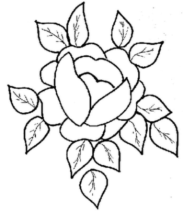 pretty flowers coloring pages - photo#10